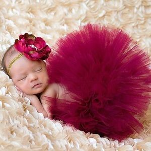 Other - Infants red Tutu & flower headband